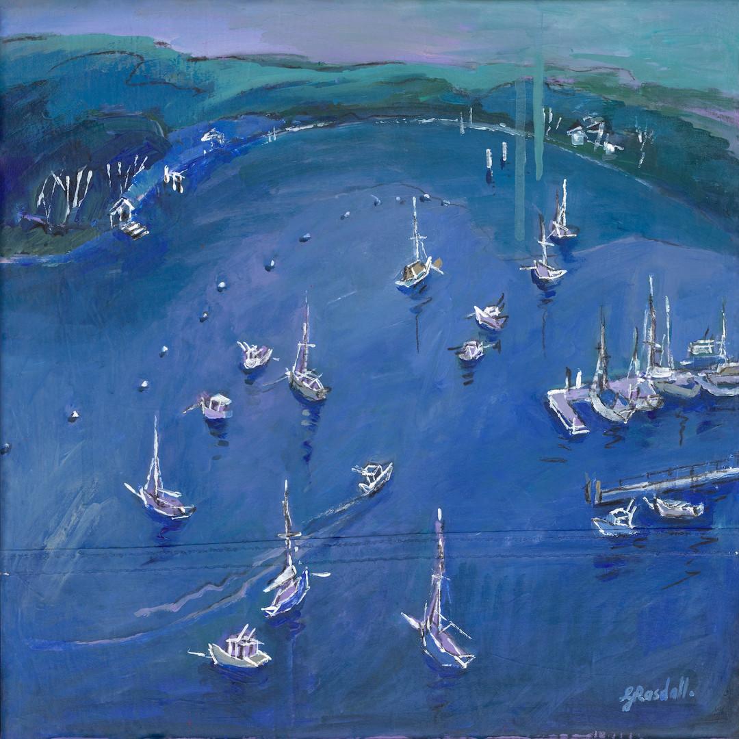 Blue Sunday (40 x 40cm)