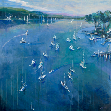Deep Waterfront (80 x 80cm)