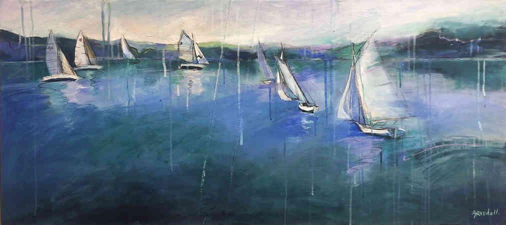 Gone Sailing (110 x 50cm)