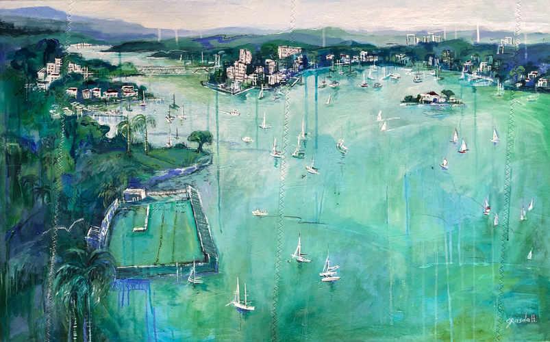 View over Balmain (150 x 70cm)