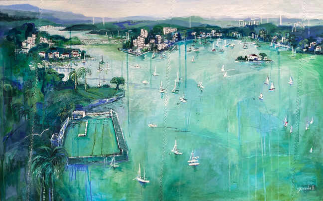 View over Balmain (150 x 70cm)