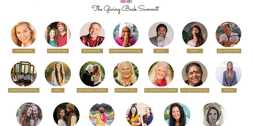 Benefiz Kīrtan at the Giving Back Summit