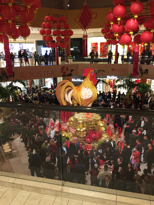 celebrating the year of the rooster at Coach, South Coast Plaza