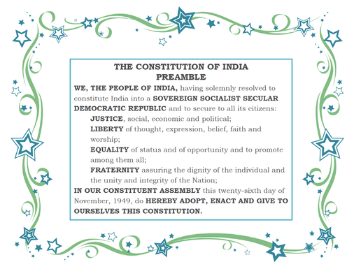 Preamble the Spirit of Constitution of India