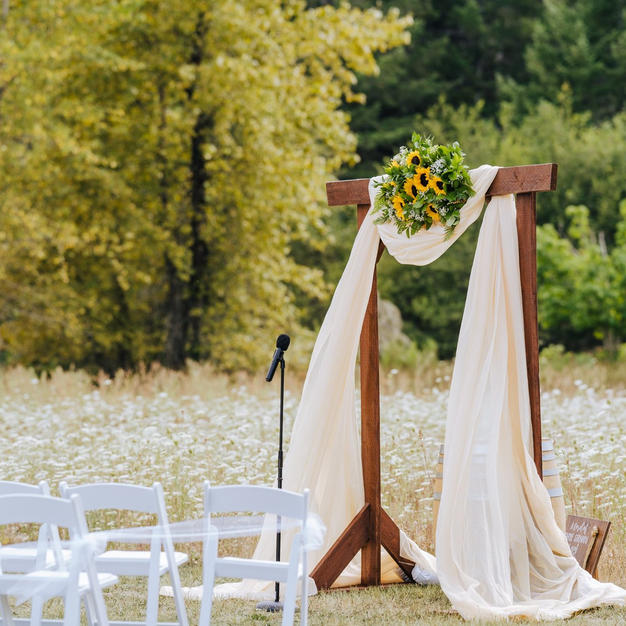 Ceremony set up in upper lawn