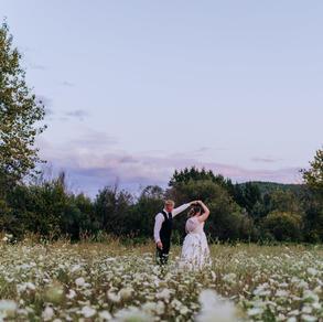 Dancing in a field of wildflowers