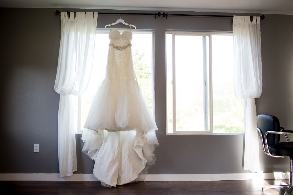 Wedding dress from Merrime Bride and Soiree