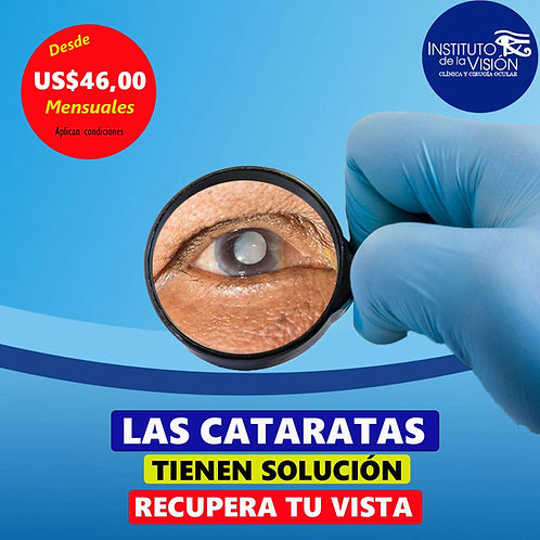 Precio de Cirugía de Catarata Guayaquil Manta Portoviejo Quevedo Santo Domingo