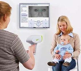Examen visual en bebé