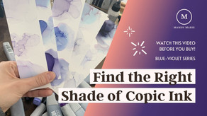 15 Prismatic Blue-Violet Copic Ink Refill Swatches