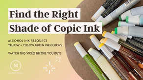 17 Fresh Copic Ink Refill Swatches: Yellow + Yellow-Green Series