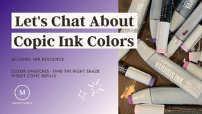 16 Sparkling Violet Copic Alcohol Ink Refill Swatches