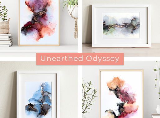 Studio Update: New Abstract Alcohol Ink Art Collection Launch