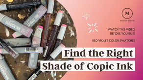 21 Beautiful Copic Ink Refill Color Swatches: Red-Violet Series