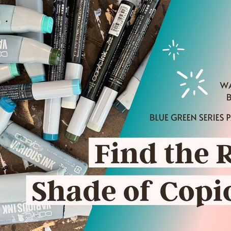 26 Extraordinary Copic Ink Refill Color Swatches: Blue Green Series