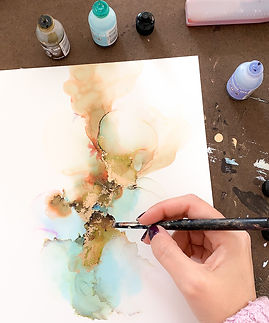 painting with alcohol ink.JPG