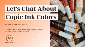 16 Opalescent Yellow-Red Copic Alcohol Ink Refill Swatches: