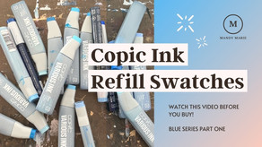 32 Brilliant Blue Copic Ink Refill Swatches