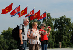 tourists from Pyongyang