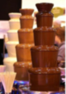 Chocolate fountain many options