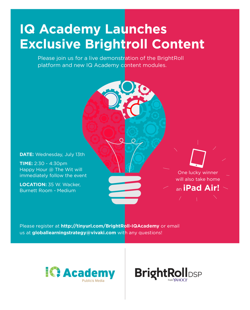 Poster, IQ Academy, Publicis Media