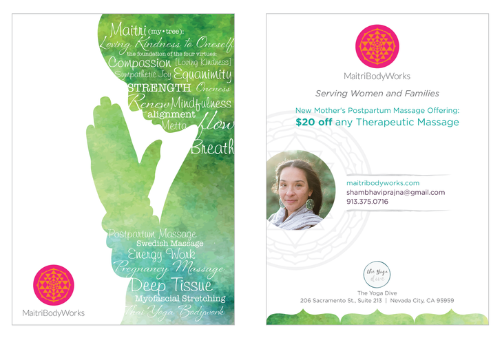 Postcard, Maitri Bodyworks