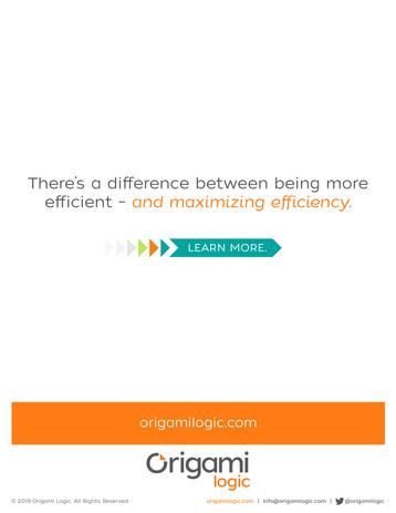 Case Study, Origami Logic
