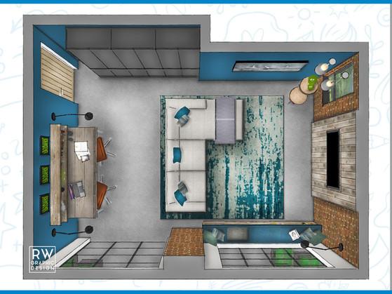 New York Loft Style Family Room