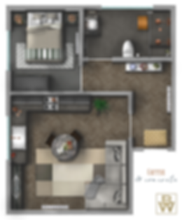 Copper & Concrete Floor Plan -Shadows an