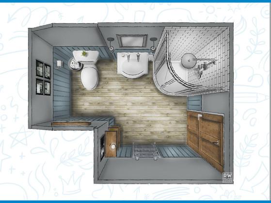 Blue & Grey Bathrom