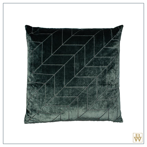Emerald Green Geometric Cushion