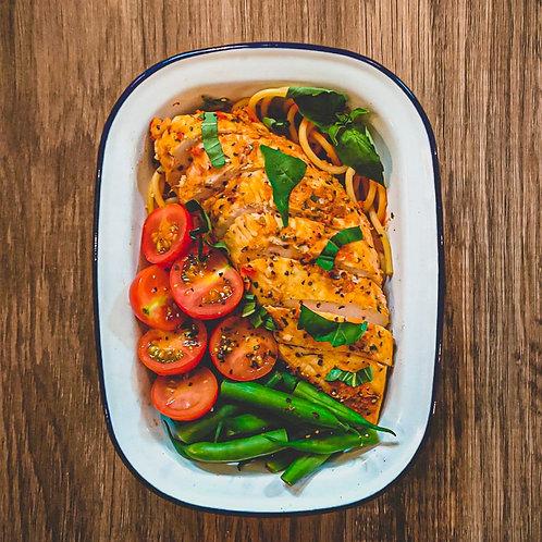 Chicken & Chorizo Spaghetti 625C/61P/57C/13F