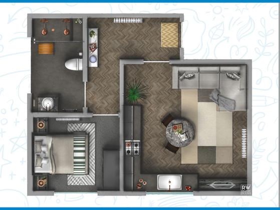 Copper & Concrete Apartment