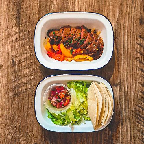 Rump Steak Fajitas 478C/62P/48C/14F