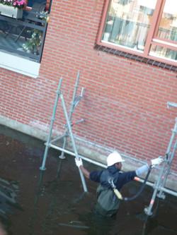 diagonalen plaatsen water steiger