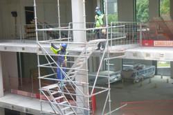 Demontage trap toren 30 m hoog.