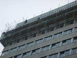Uitbouw steiger demontage
