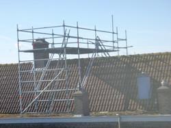 montage dak steiger