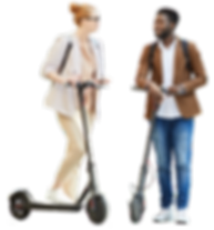 couple-riding-electric-scooters-in-city-