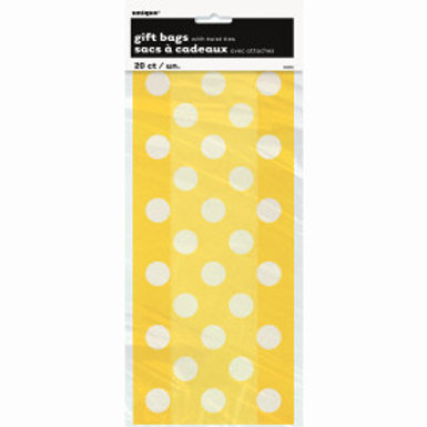 YELLOW DOTS CELLO BAGS