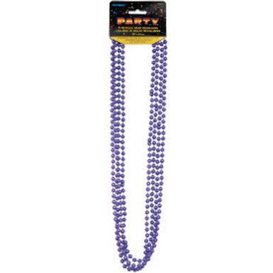 Bead Necklace-Purple Metallic