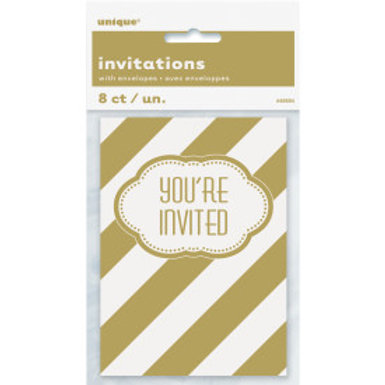 Golden Birthday Invite