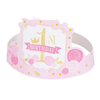 Pink/Gold 1st Birthday Party Hat