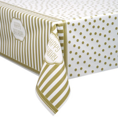 Golden Birthday Tablecover 54X84