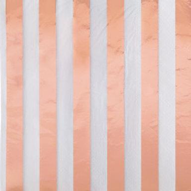 Rose Gold Foil Stripes Luncheon Napkins