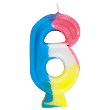 Rainbow Birthday Candle #6