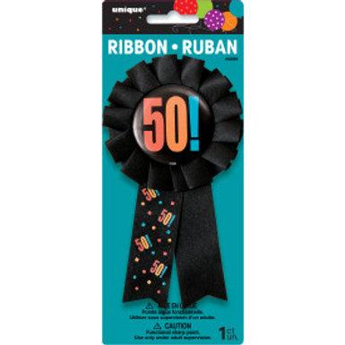 Birthday Cheer Age 50 Award Badge