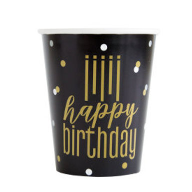 Metallic Happy Birthday 9Oz Cup