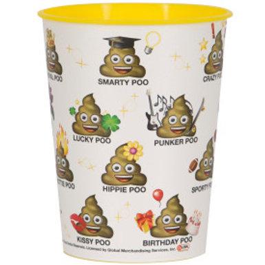 Emoji Poo Sayin 16oz Plastic Cup
