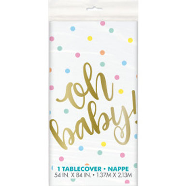 Oh Baby Gold Bs Tablecover
